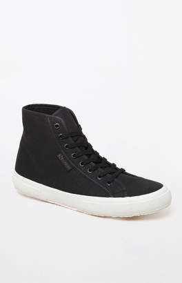 Superga Women's Black & White Cotu High-Top Sneakers