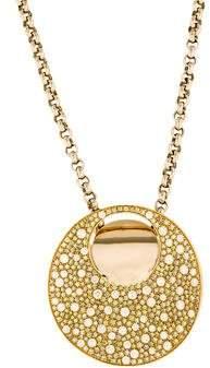 Luca Carati Pavé Diamond Round Pendant Necklace