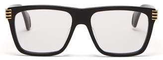 Gucci Oversized Square Frame Acetate Glasses - Womens - Black