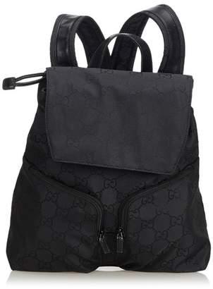 Gucci Vintage Gg Canvas Drawstring Backpack