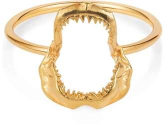 Lee Renee Shark Jawbone Ring Gold vermeil