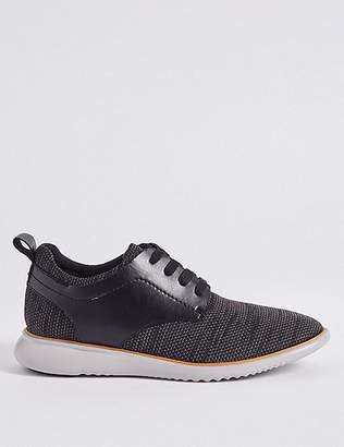 Marks and Spencer Knitted Lace-up Trainers