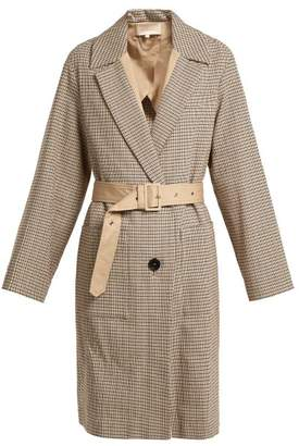 Vanessa Bruno Iambo Checked Cotton Coat - Womens - Beige Multi