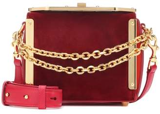 Alexander McQueen Box 16 velvet shoulder bag