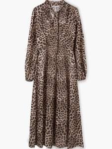 Lily & Lionel Natural Safari 70s Dress - XS - Natural/Brown