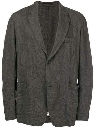 Yohji Yamamoto wrinkle effect blazer
