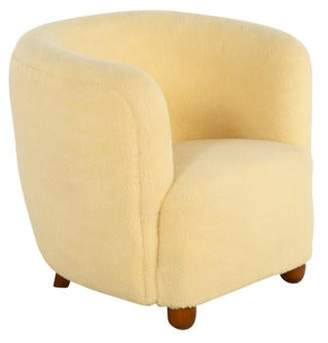 Lassen Attributed to Flemming Danish Modern Lounge Chair White Attributed to Flemming Danish Modern Lounge Chair