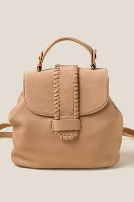 francesca's Tori Whipstitch Mini Backpack - Taupe