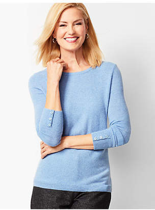 Talbots Cashmere Crewneck Sweater - Marled