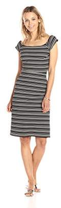 Paris Sunday Women's Cross Back Ribbed Dress
