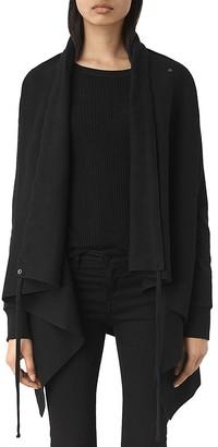 ALLSAINTS Draped Jersey Cardigan $178 thestylecure.com