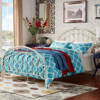 Weston Home Round Top Headboard & Footboard Metal Bed Frame, Multiple Sizes & Finishes