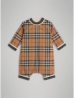 Burberry Childrens Vintage Check Cotton Poplin Jumpsuit
