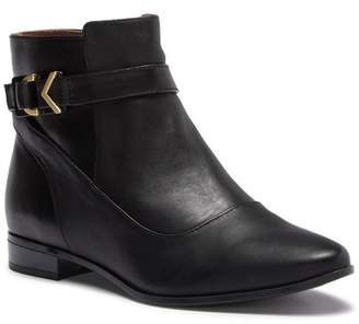 Calvin Klein Farryn Leather Buckle Bootie