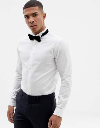 Jack and Jones Smart Shirt With Formal Tuxedo Collar