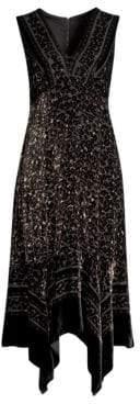 Nanette Lepore Aroma Leopard Burnout Velvet Dress