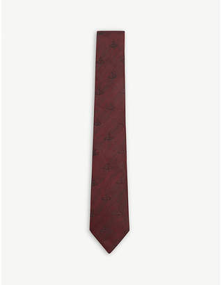 Vivienne Westwood Classic orb silk and linen tie