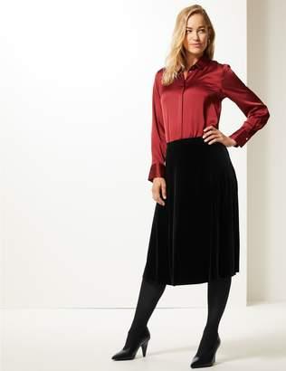 Marks and Spencer Velvet A-Line Midi Skirt