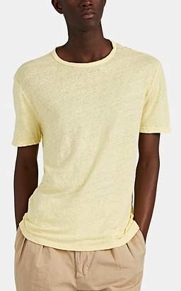Officine Generale Men's Slub Linen T-Shirt - Yellow