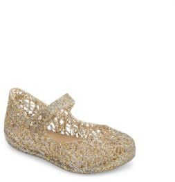 Mini Melissa Baby's & Toddler's Zigzag Glitter Mary Jane Flats $55 thestylecure.com