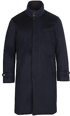 f43e40658 Mens Long Wool Coat Zip - ShopStyle