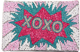 XOXO From St Xavier Foldover Clutch, Multi
