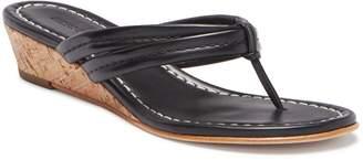 Bernardo Miami Leather Wedge Sandal