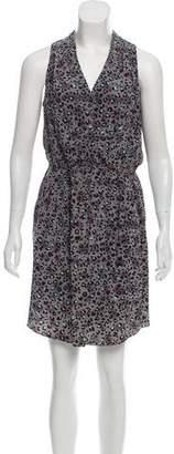 Rebecca Taylor Animal Print Silk Knee-Length Dress