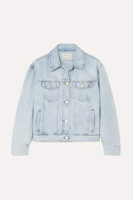 Madewell The Boxy Crop Denim Jacket - Light denim