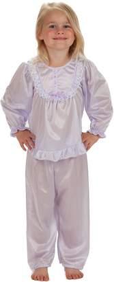 Laura Dare Big Girls Long Sleeve Traditional PJ Set