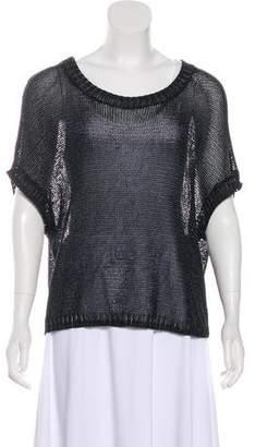 Vince Metallic Open-Knit Sweater