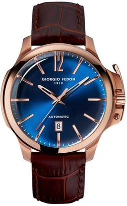 Giorgio Fedon Men's Timeless VI Leather Watch, 45mm
