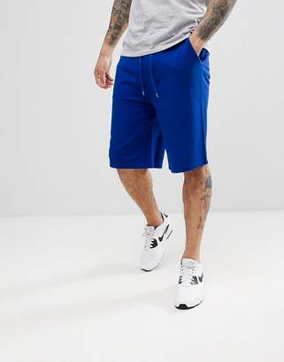 Asos DESIGN Jersey Oversized Shorts In Bright Blue
