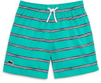 Lacoste Boys' Striped Swim Trunks - Little Kid, Big Kid