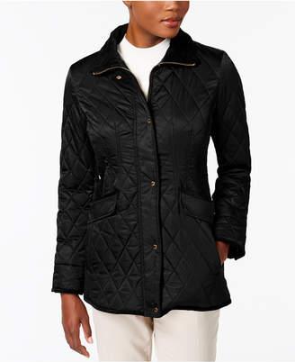 Vince Camuto Velvet-Trim Quilted Coat $220 thestylecure.com