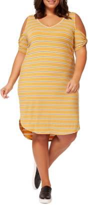 Dex Plus Striped Shift Dress