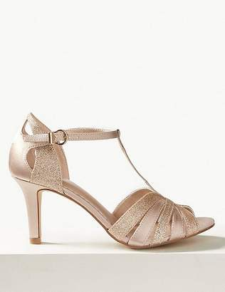 Marks and Spencer Stiletto Heel Glitter Sandals