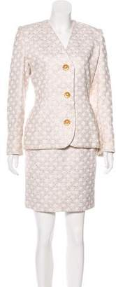 Givenchy Vintage Brocade Skirt Suit