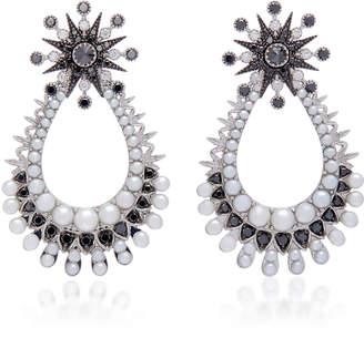 Colette Jewelry 18K Oxidized Gold Diamond Earrings