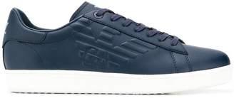 Emporio Armani Ea7 logo leather sneakers