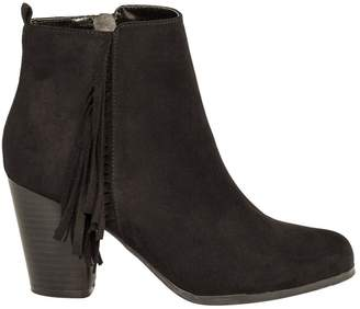 Le Château Women's Suede-Like Fringe Ankle Boot