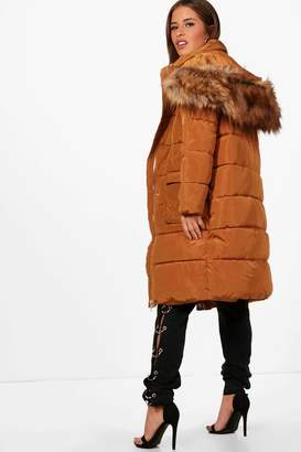 boohoo Petite Zoe Longline Padded Coat