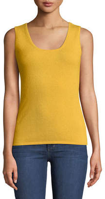 Neiman Marcus Scoop-Neck Cashmere Tank Top