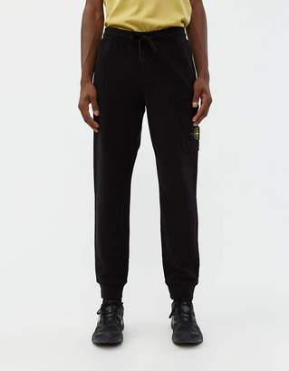 Stone Island Brushed Cotton Fleece Pant in Black