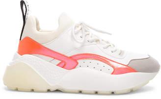 Stella McCartney Eclypse Lace Sneakers in White & Orange | FWRD