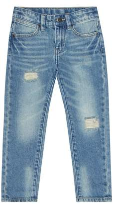 Stella McCartney Distressed cotton jeans
