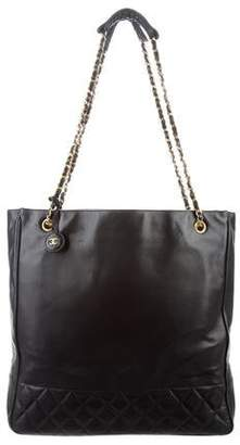 Chanel Leather Shopper Tote