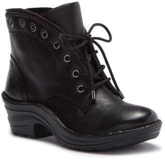 bionica Rangley Leather Lace-Up Grommet Bootie