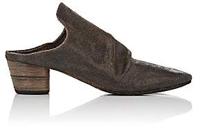 Marsèll Women's Wrinkled-Vamp Leather Mules - Black