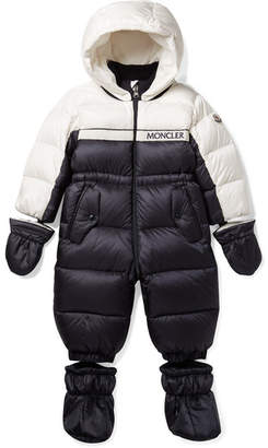 Moncler Months 6 - 24 Frazer Two-tone Quilted Shell Down Snow Suit